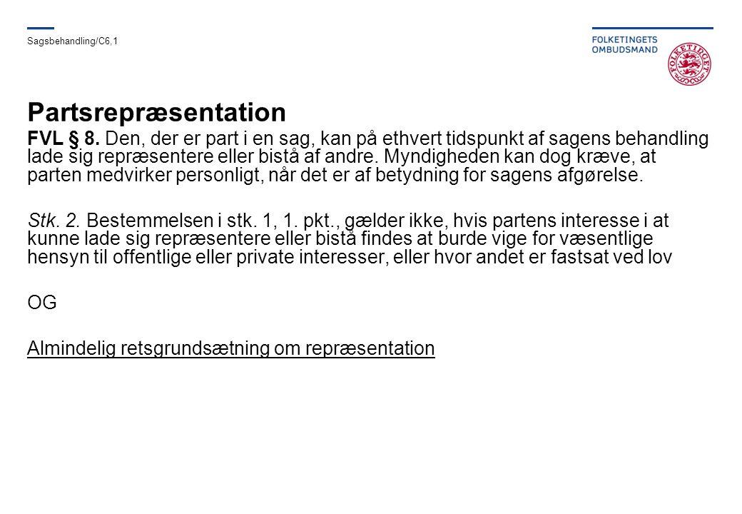 Sagsbehandling/C6,1 Partsrepræsentation.