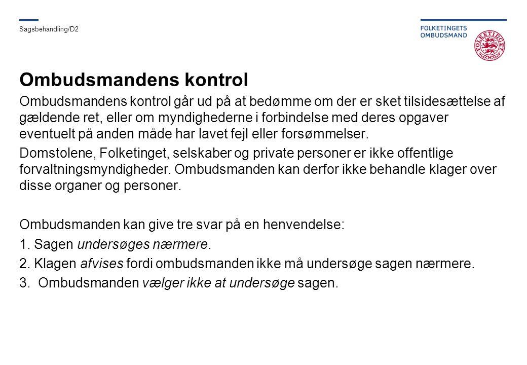 Ombudsmandens kontrol