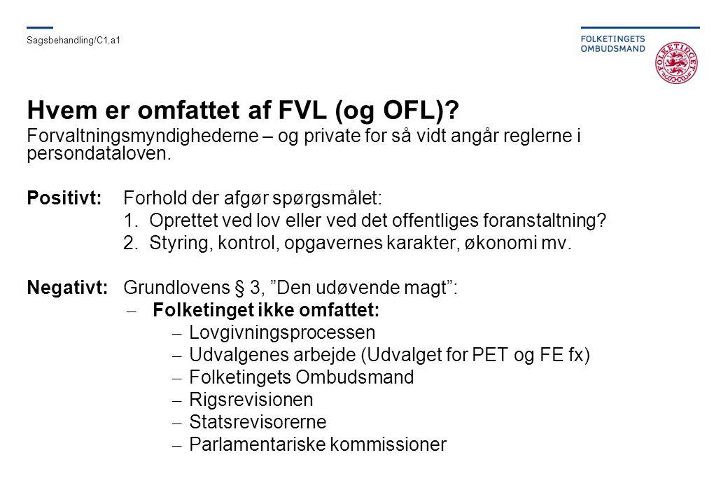 Hvem er omfattet af FVL (og OFL)