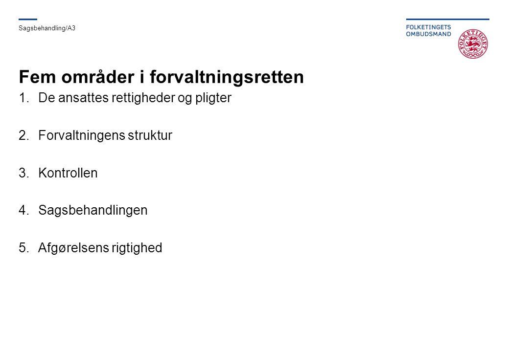 Fem områder i forvaltningsretten