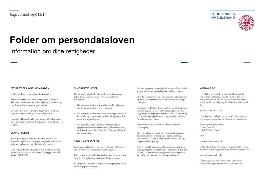 Folder om persondataloven