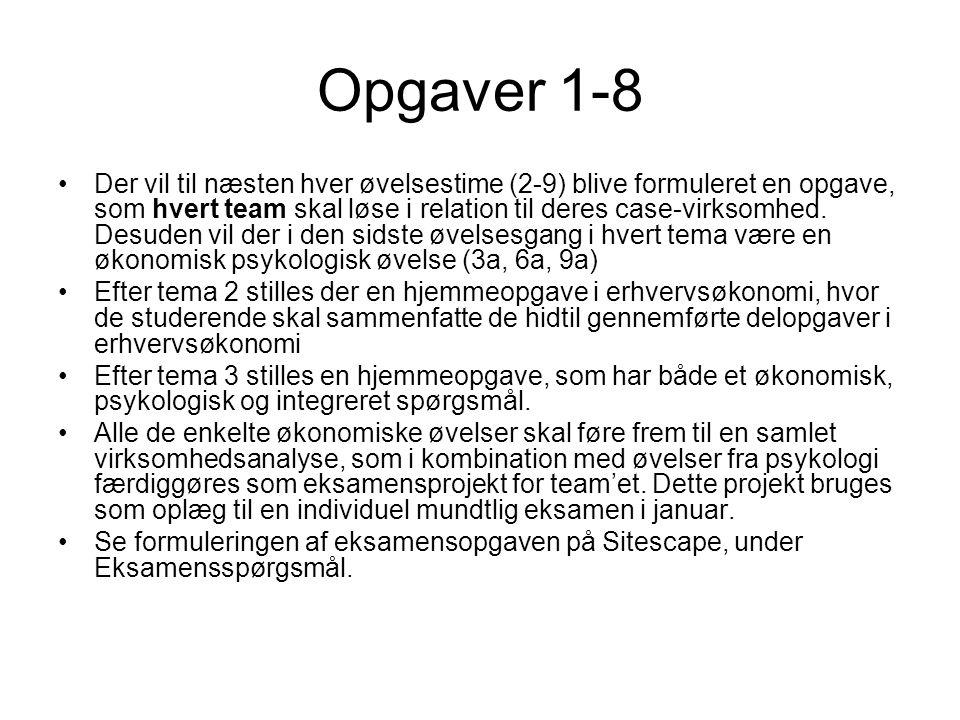 Opgaver 1-8