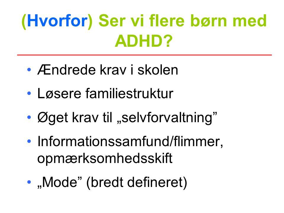 (Hvorfor) Ser vi flere børn med ADHD
