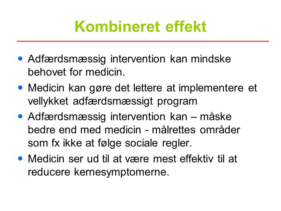 Kombineret effekt Adfærdsmæssig intervention kan mindske behovet for medicin.