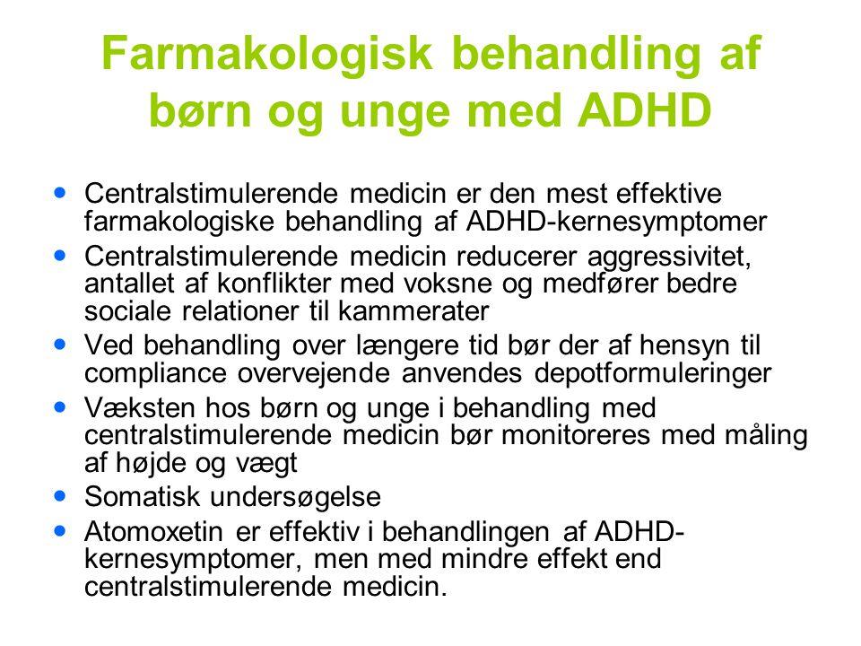 Farmakologisk behandling af børn og unge med ADHD