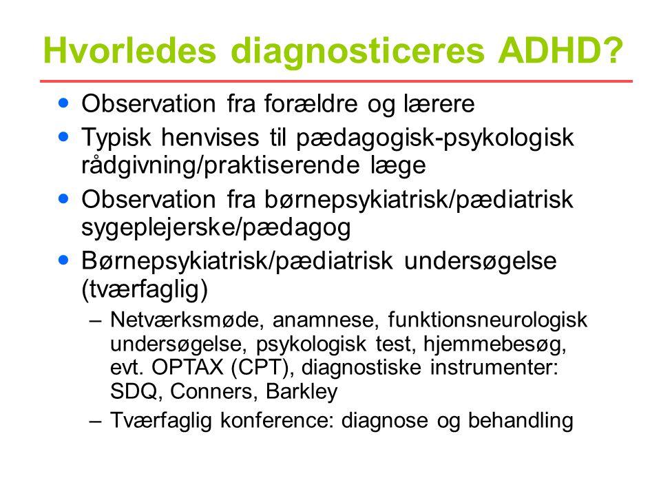 Hvorledes diagnosticeres ADHD