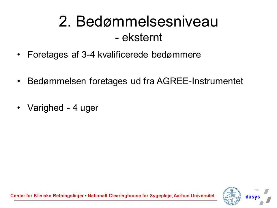 2. Bedømmelsesniveau - eksternt