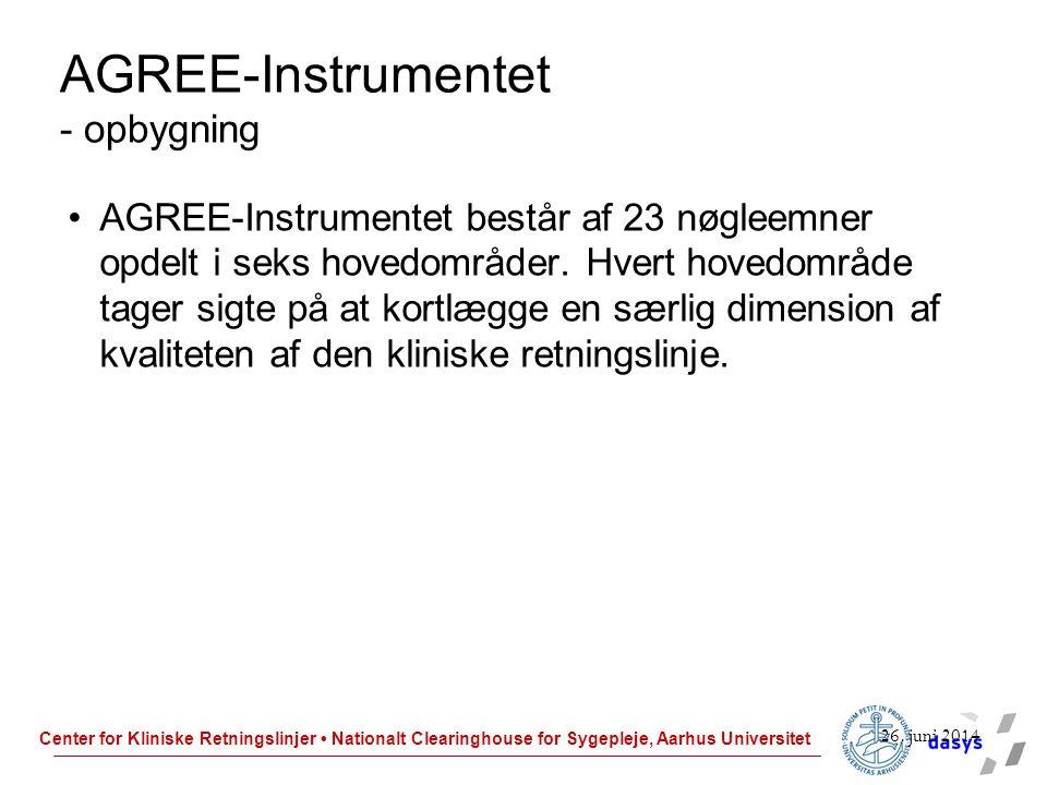 AGREE-Instrumentet - opbygning