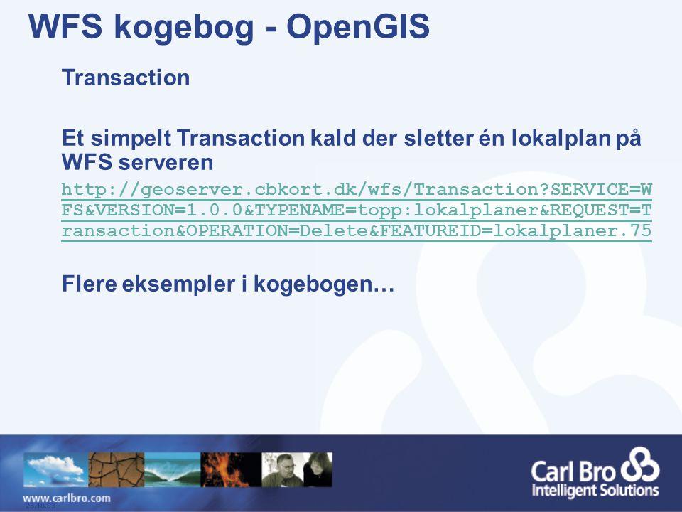 WFS kogebog - OpenGIS Transaction