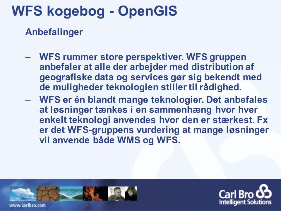 WFS kogebog - OpenGIS Anbefalinger