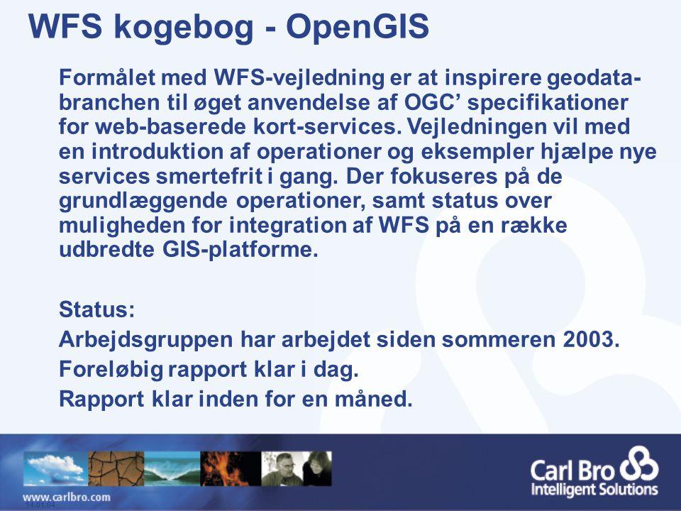 WFS kogebog - OpenGIS