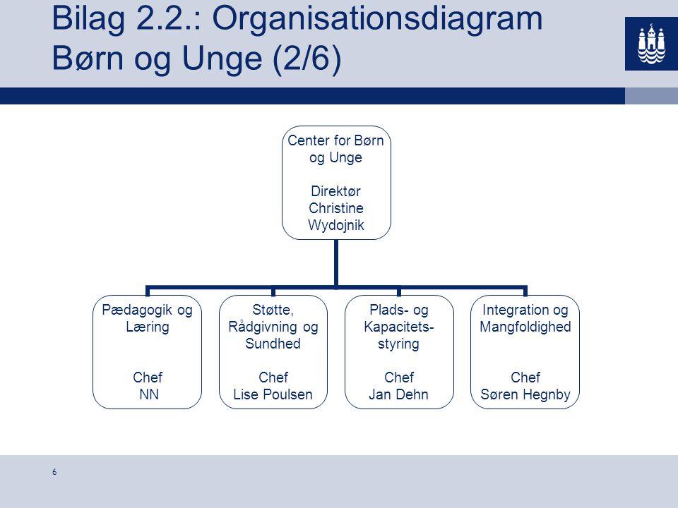 Bilag 2.2.: Organisationsdiagram Børn og Unge (2/6)