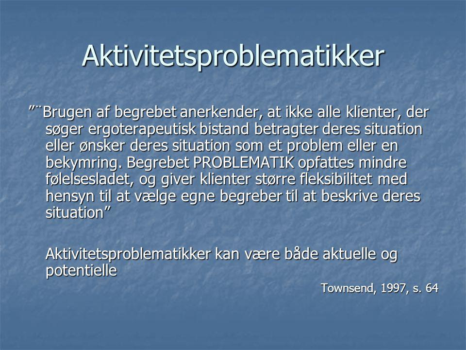 Aktivitetsproblematikker