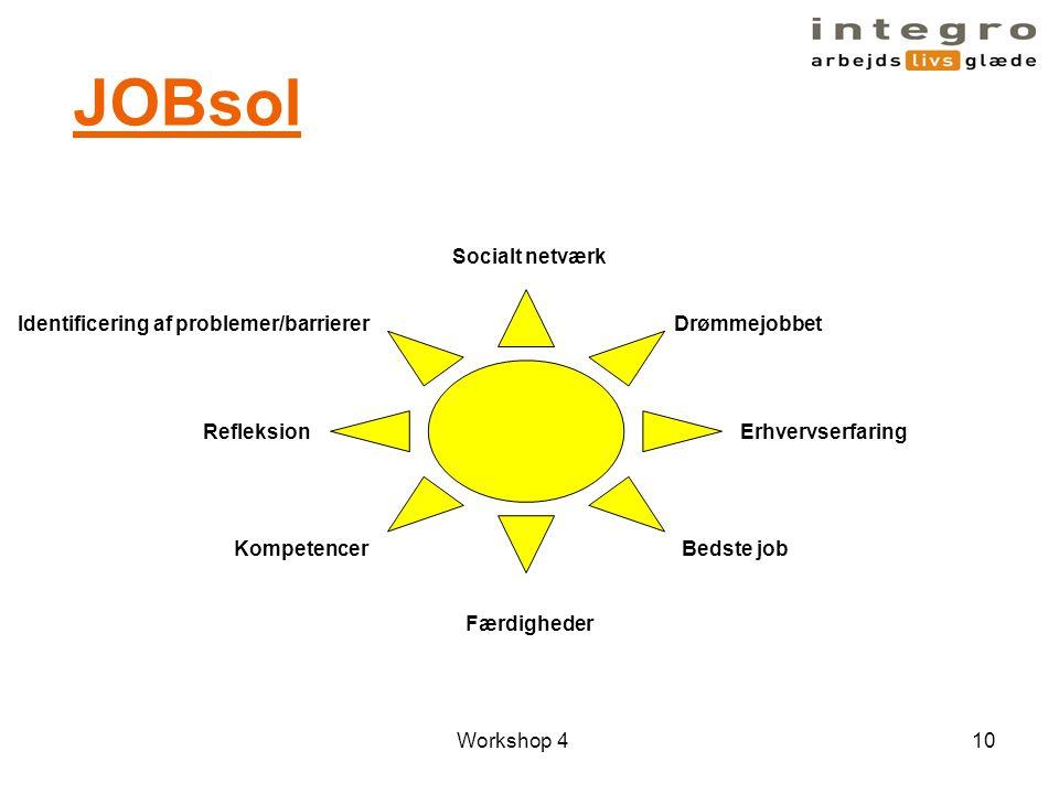JOBsol Socialt netværk Identificering af problemer/barrierer