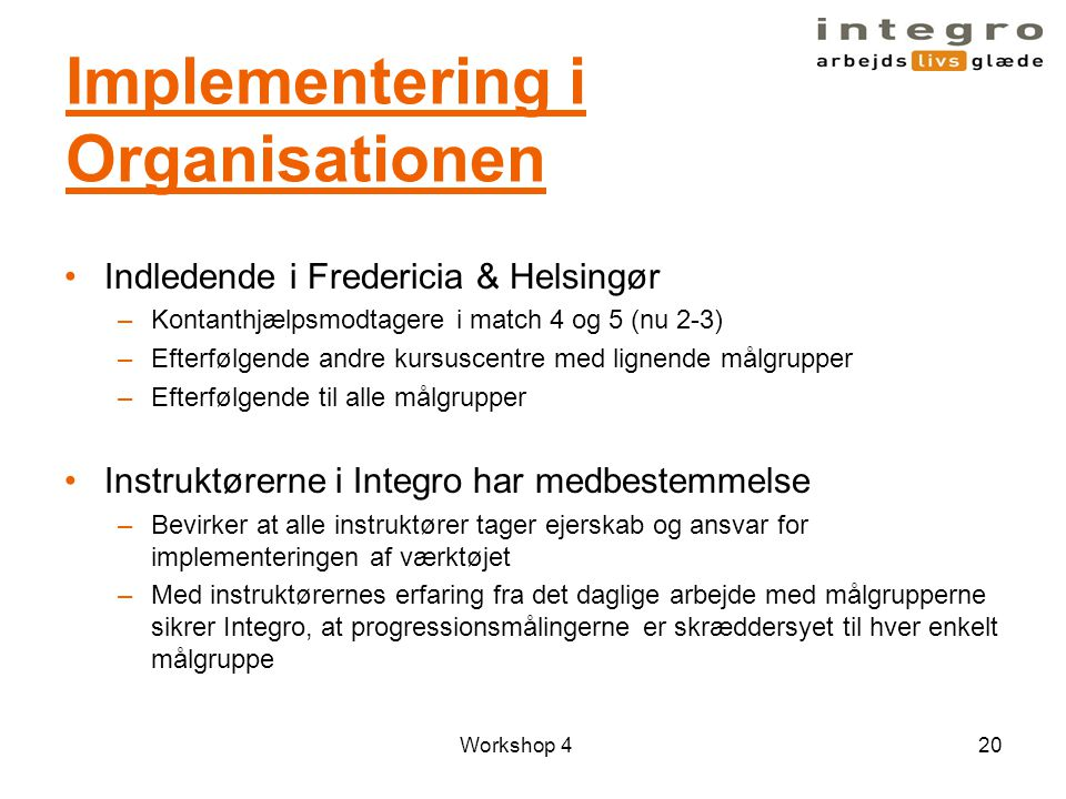 Implementering i Organisationen