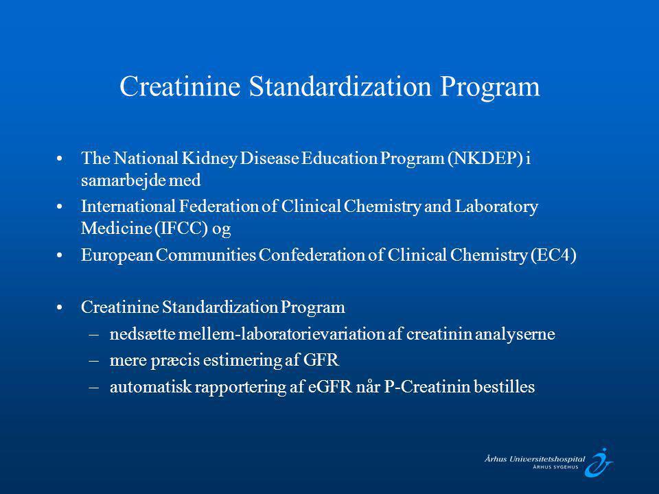Creatinine Standardization Program