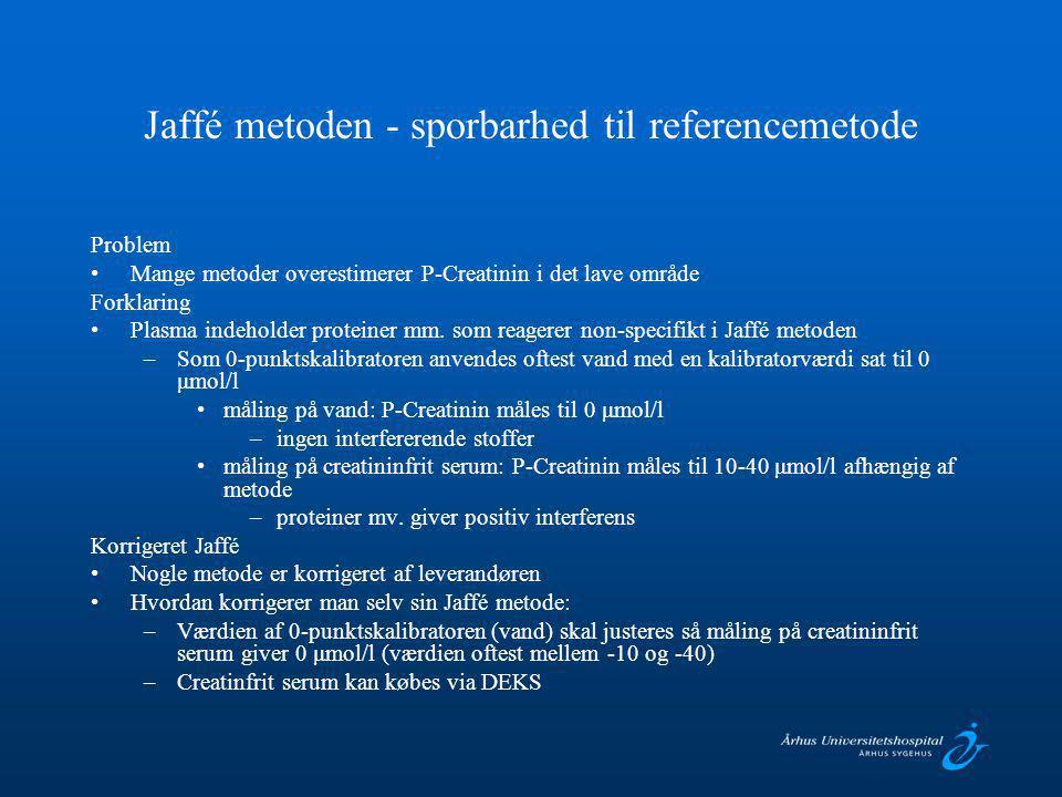 Jaffé metoden - sporbarhed til referencemetode