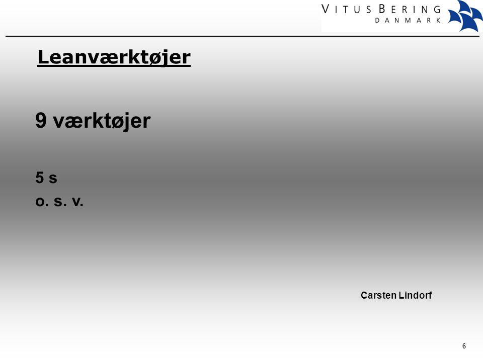 Leanværktøjer 9 værktøjer 5 s o. s. v. Carsten Lindorf