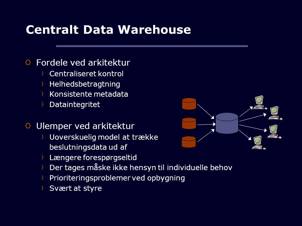 Centralt Data Warehouse