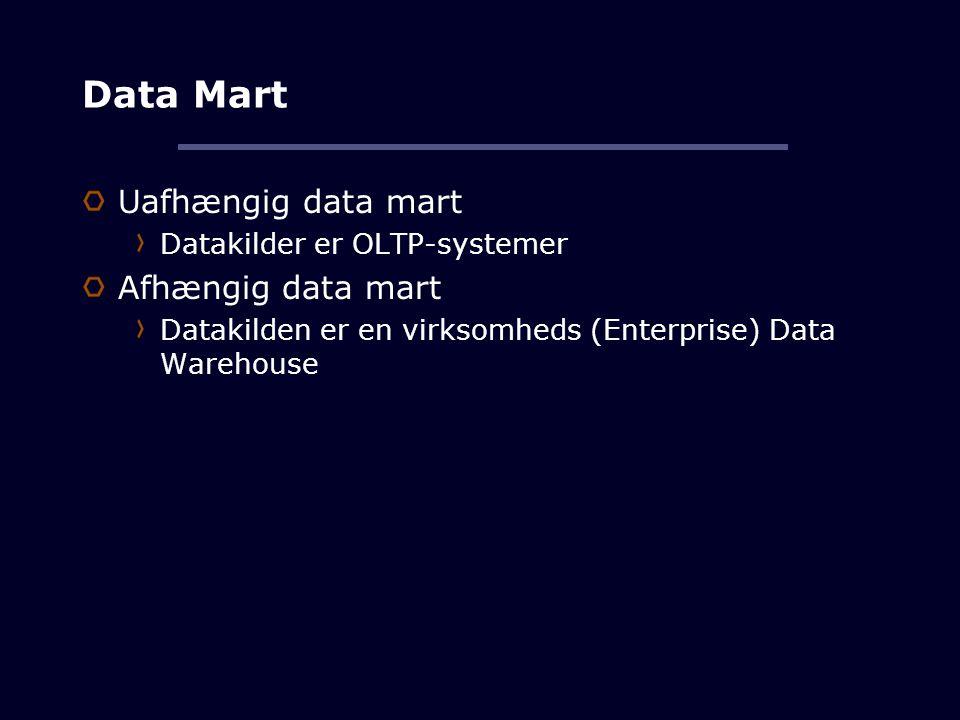 Data Mart Uafhængig data mart Afhængig data mart