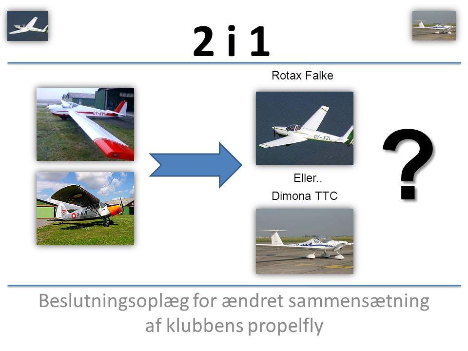 Beslutningsoplæg for ændret sammensætning af klubbens propelfly