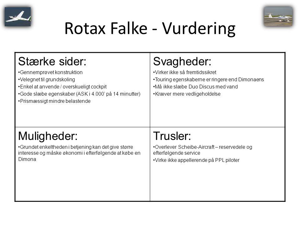 Rotax Falke - Vurdering