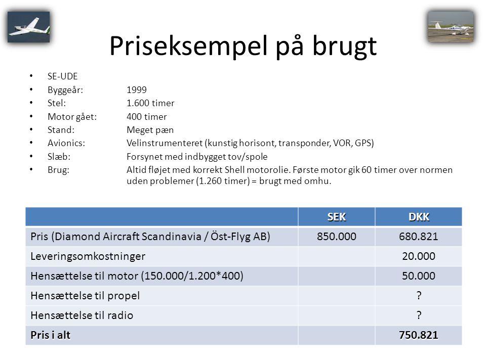 Priseksempel på brugt SEK DKK