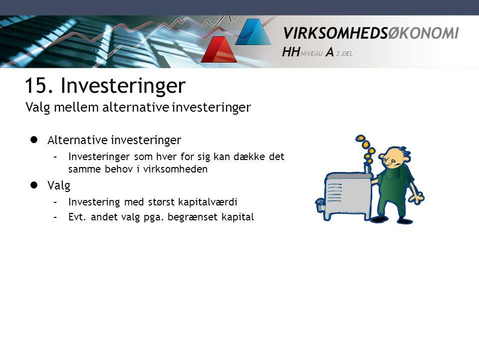 15. Investeringer Valg mellem alternative investeringer