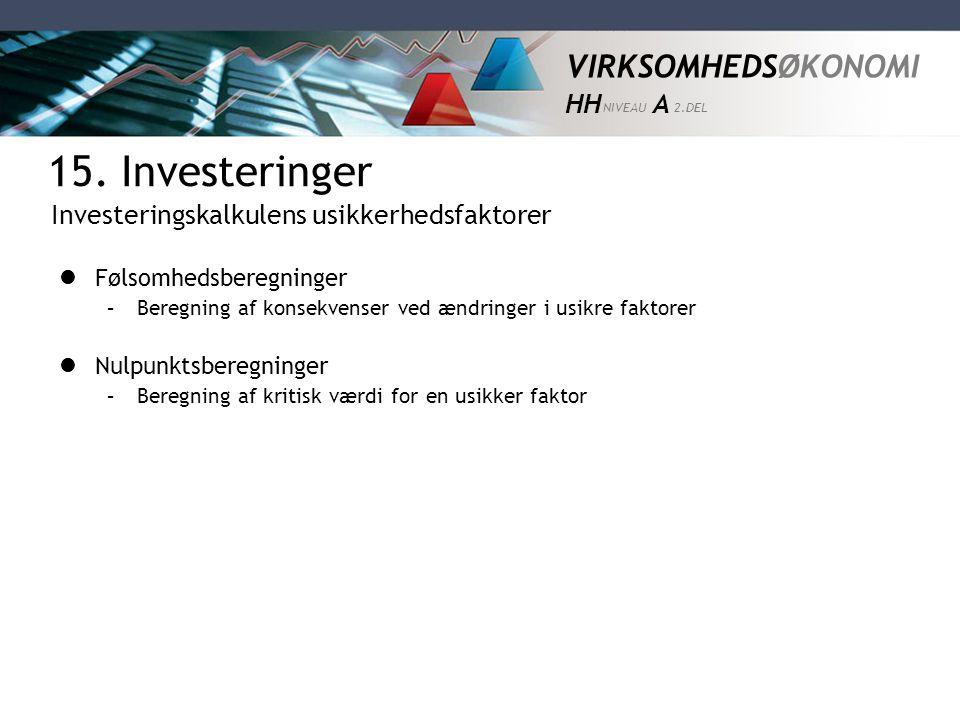 15. Investeringer Investeringsbegrebet Investeringsårsager - ppt video online download