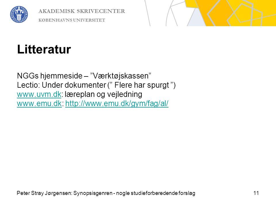 Litteratur NGGs hjemmeside – Værktøjskassen