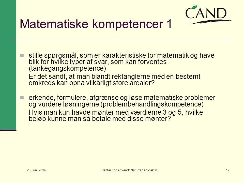Matematiske kompetencer 1