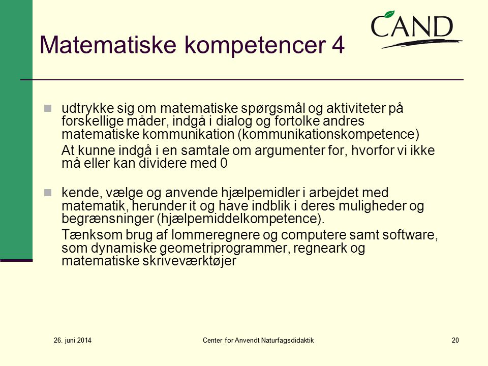 Matematiske kompetencer 4