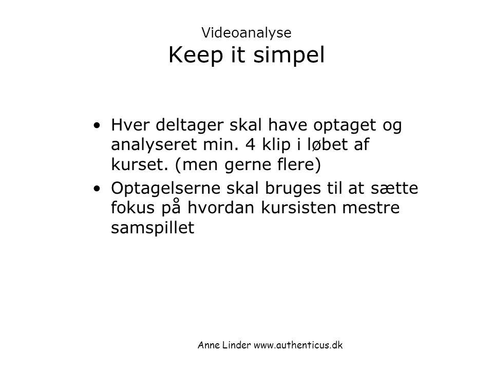 Videoanalyse Keep it simpel