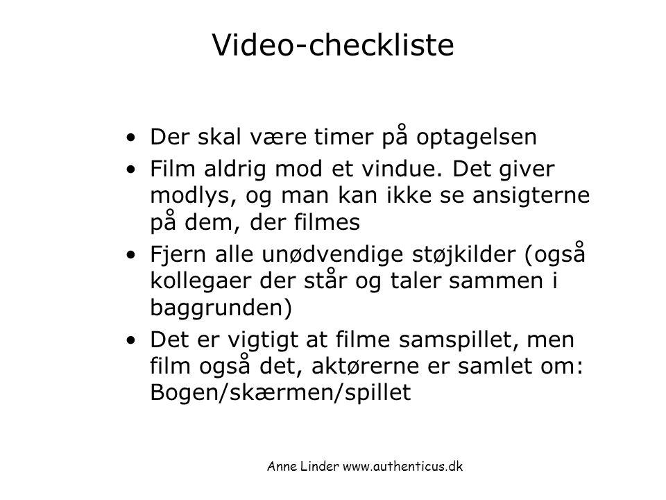 Anne Linder www.authenticus.dk