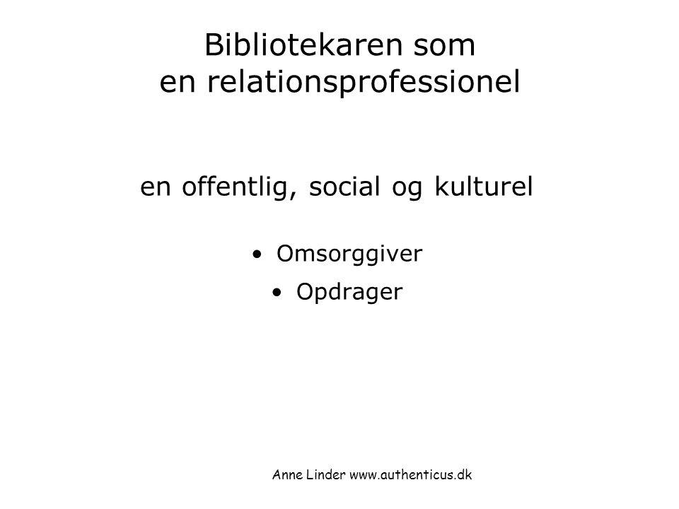 Bibliotekaren som en relationsprofessionel