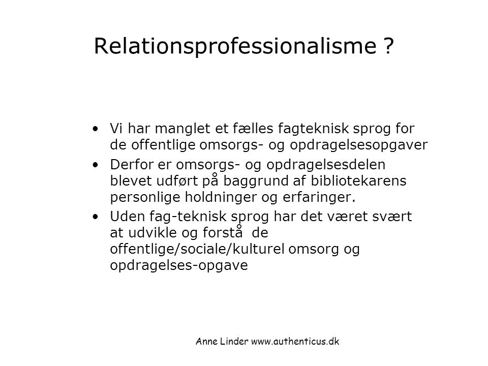 Relationsprofessionalisme