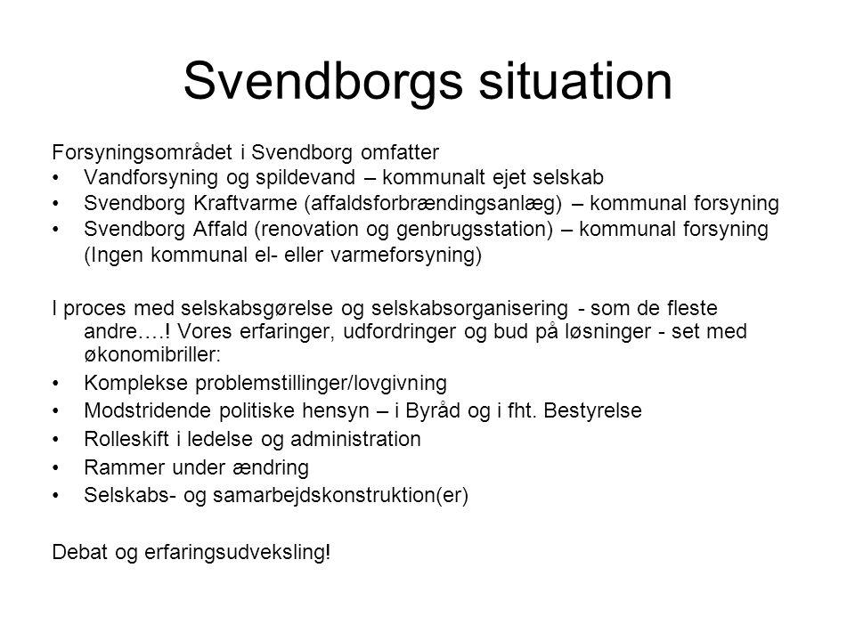 Svendborgs situation Forsyningsområdet i Svendborg omfatter