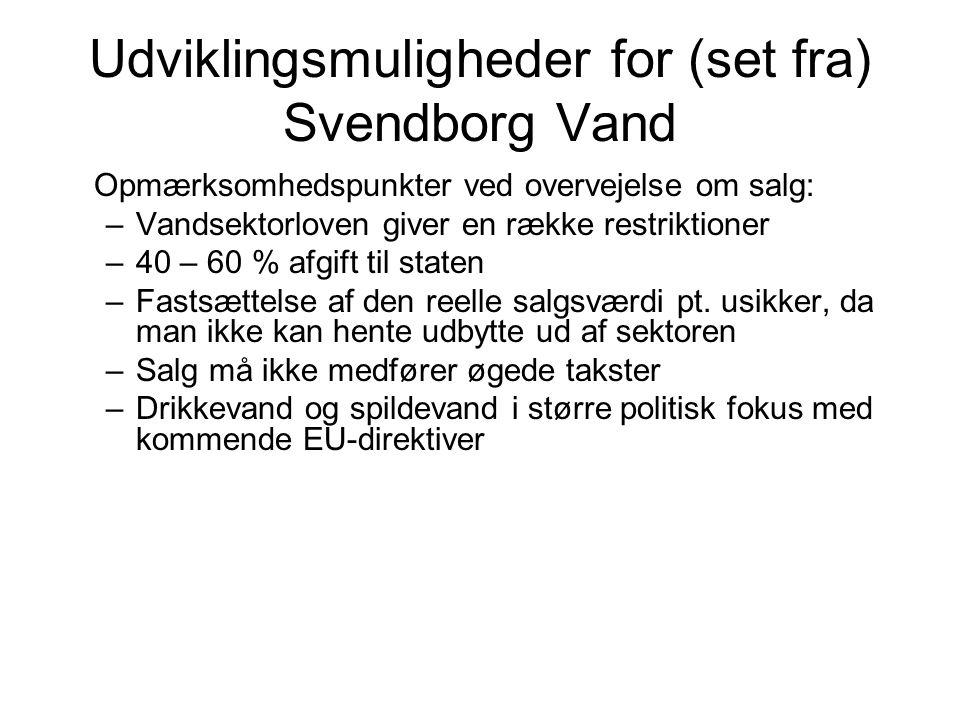 Udviklingsmuligheder for (set fra) Svendborg Vand