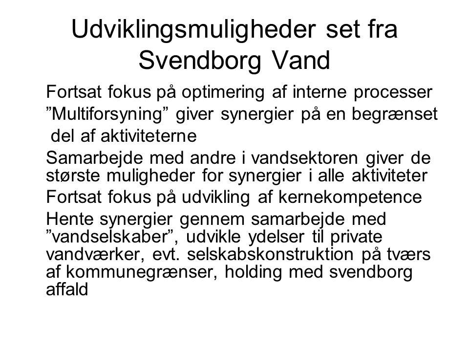 Udviklingsmuligheder set fra Svendborg Vand