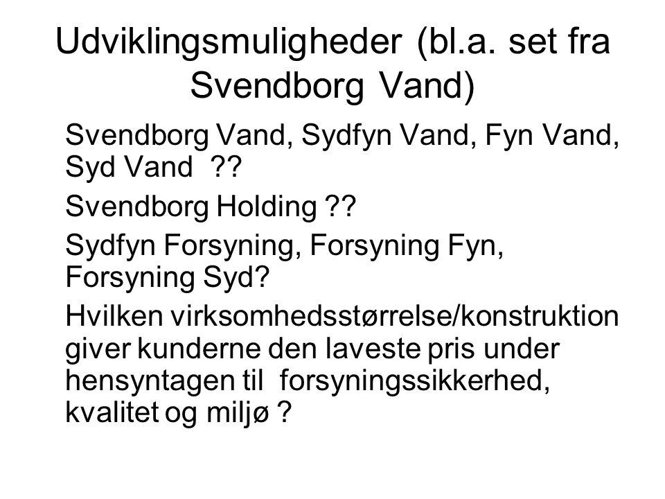 Udviklingsmuligheder (bl.a. set fra Svendborg Vand)
