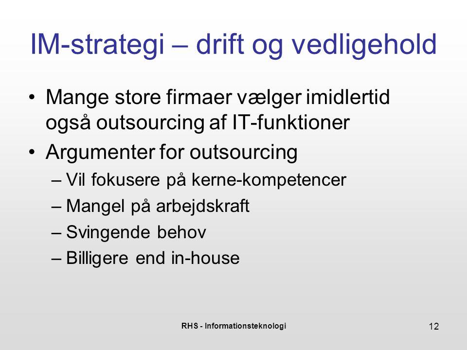 IM-strategi – drift og vedligehold