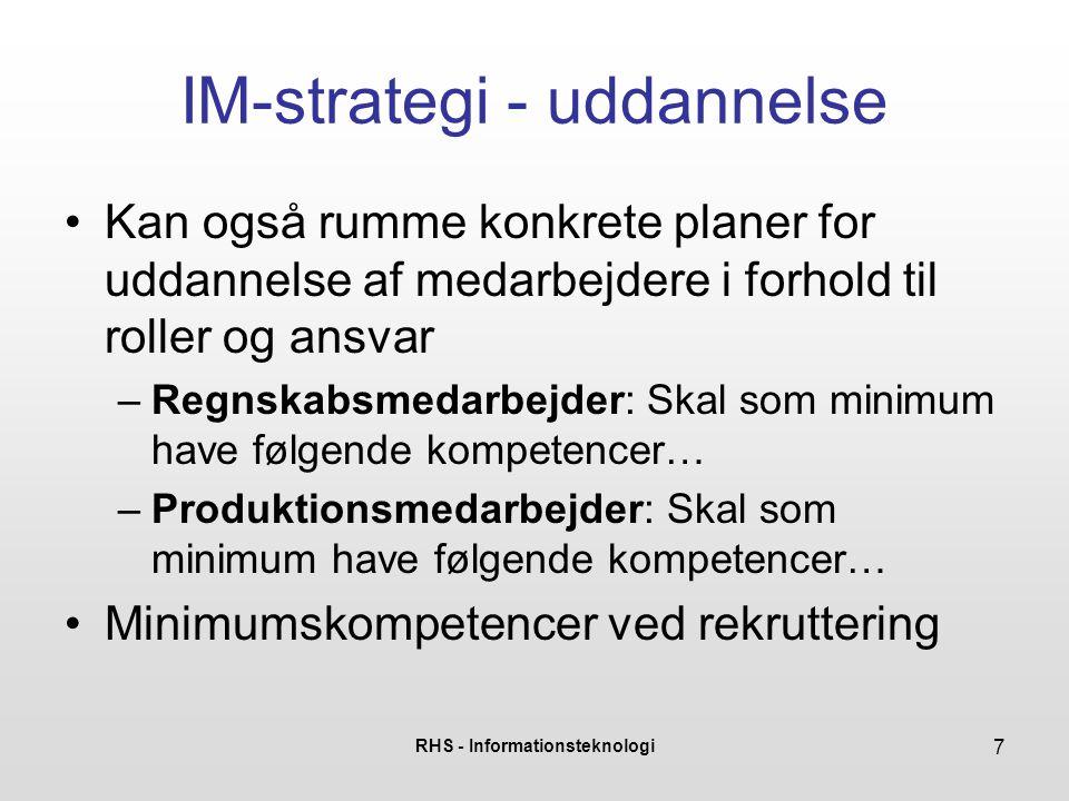 IM-strategi - uddannelse