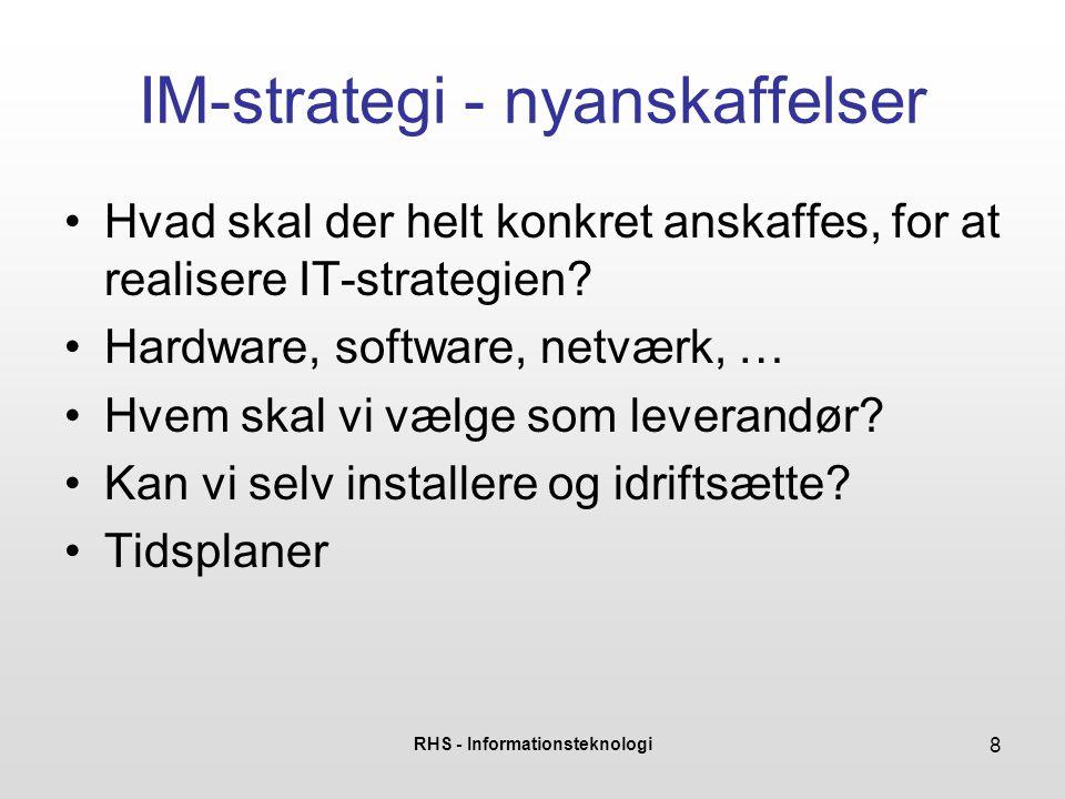 IM-strategi - nyanskaffelser