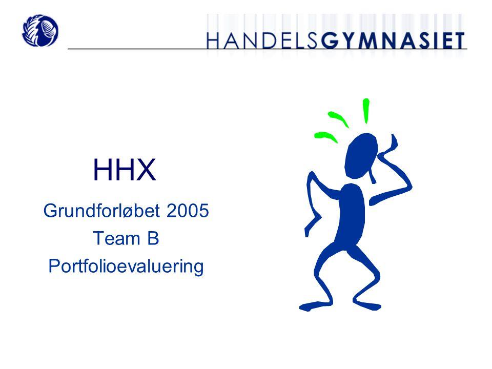 HHX Grundforløbet 2005 Team B Portfolioevaluering