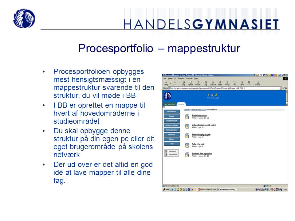 Procesportfolio – mappestruktur