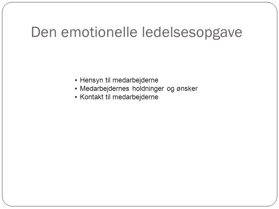 Den emotionelle ledelsesopgave