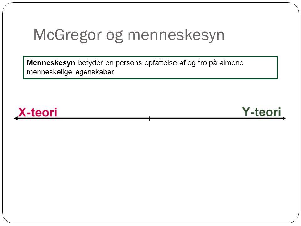 McGregor og menneskesyn