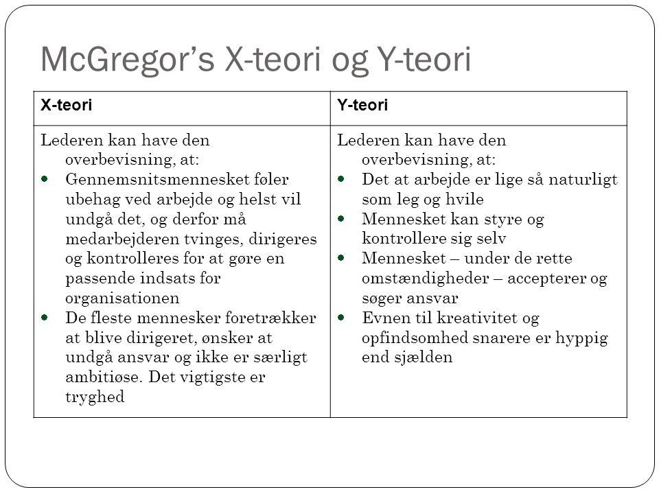 McGregor's X-teori og Y-teori