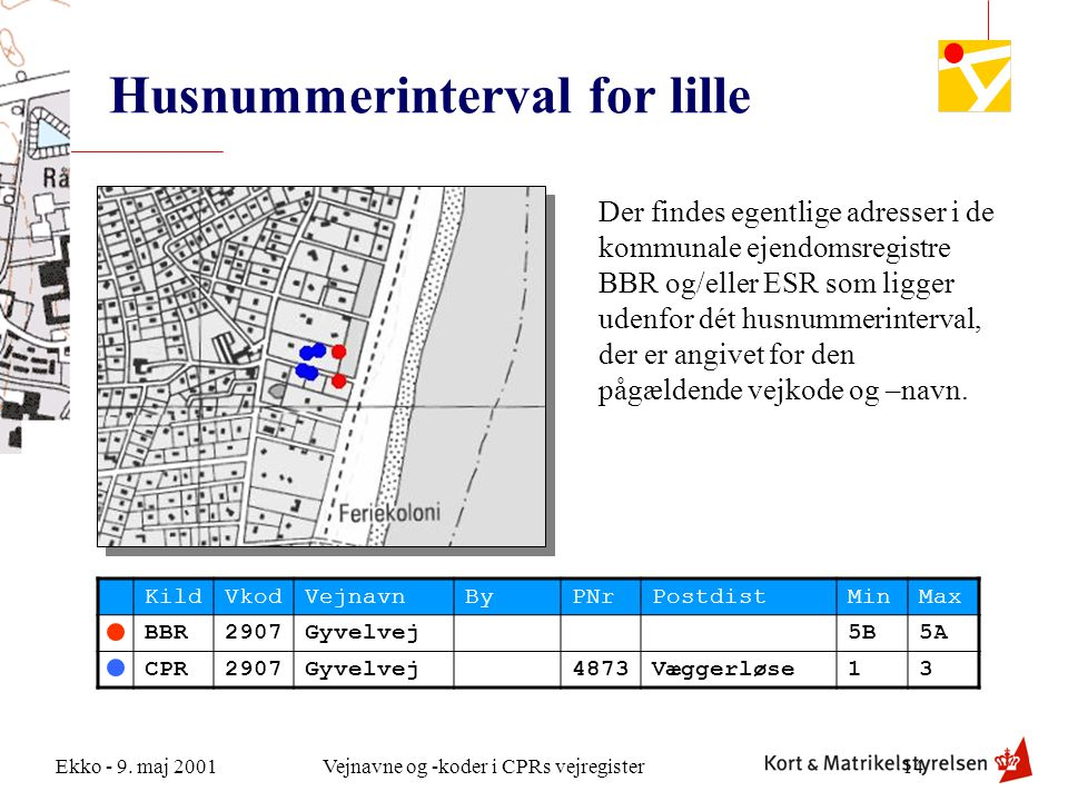 Husnummerinterval for lille