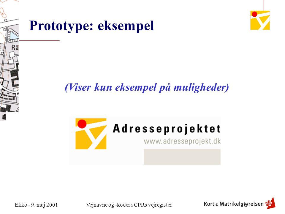 Prototype: eksempel (Viser kun eksempel på muligheder)